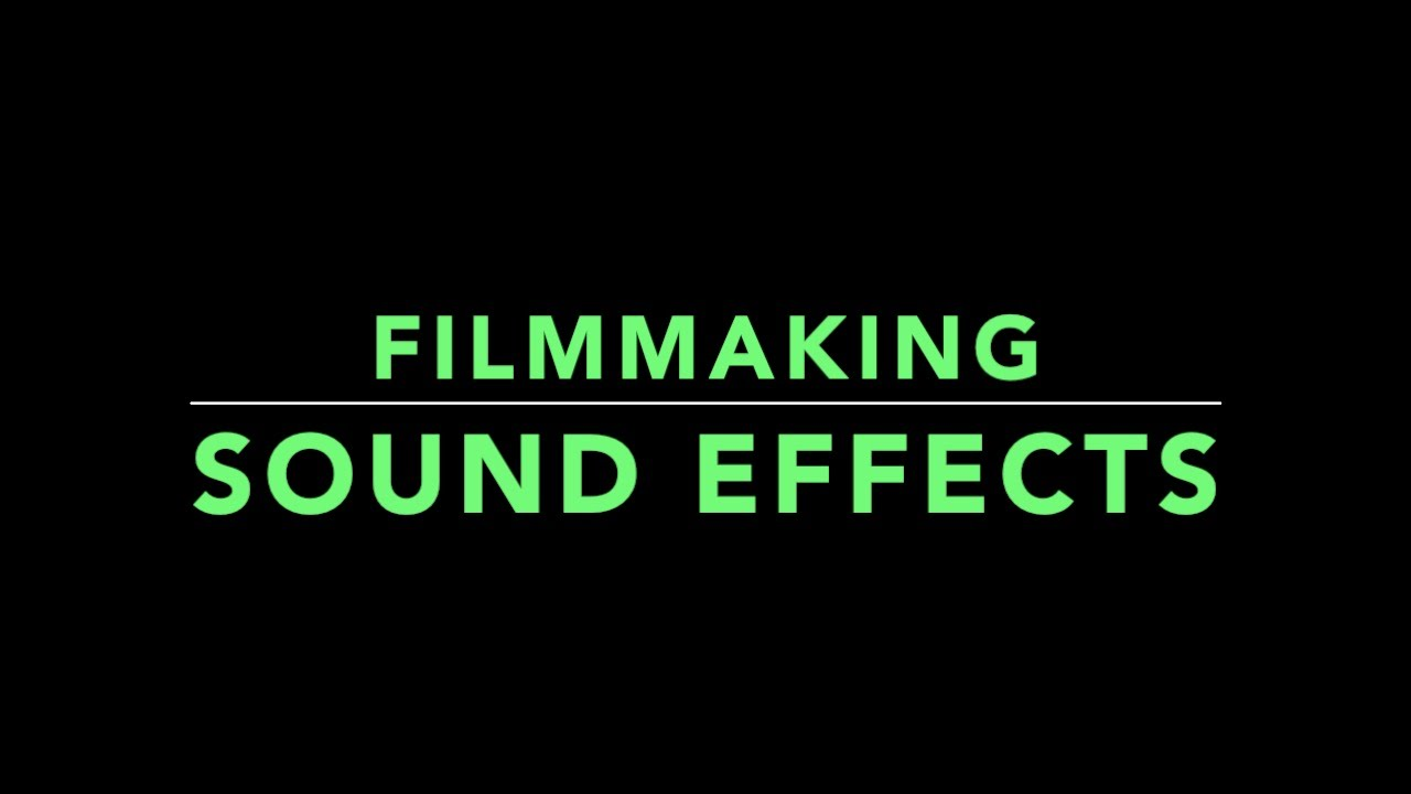 how to make homemade sound effects