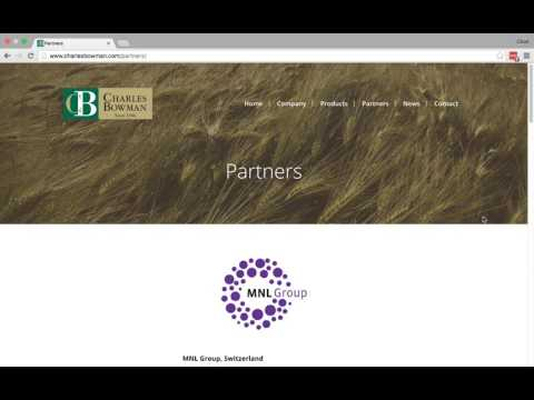 Website design tour: Charles Bowman & Company