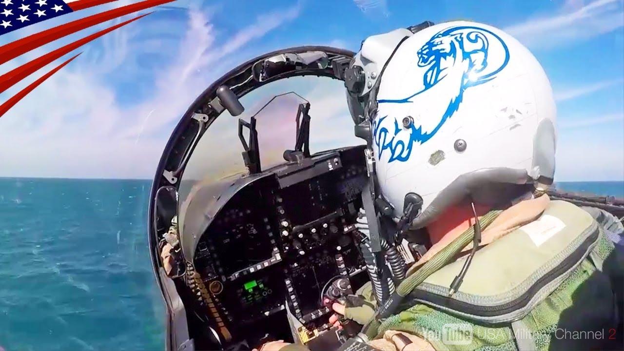 【大迫力】F-35C & F/A-18戦闘機カタパルト射出・ワイヤー着艦・コックピットビュー