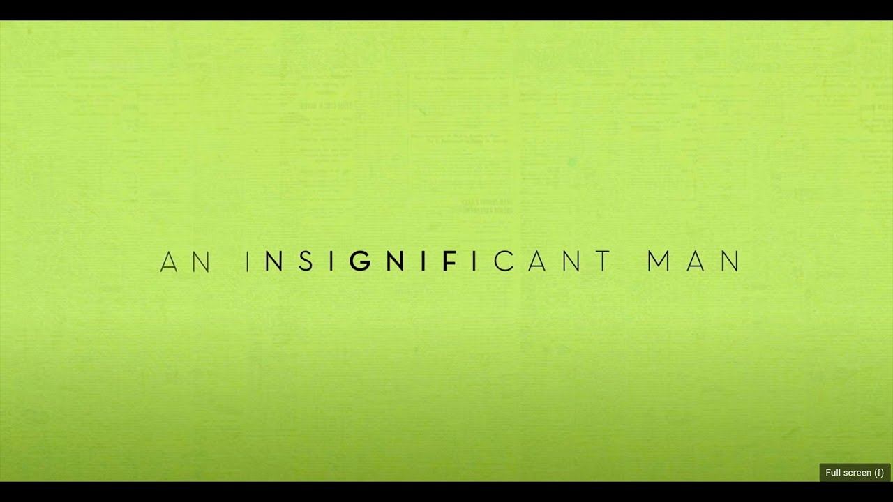 An Insignificant Man