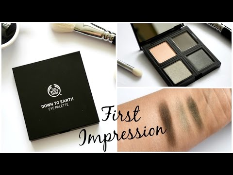 The Body Shop Down to Earth Eye Palette First Impression Review + Demo