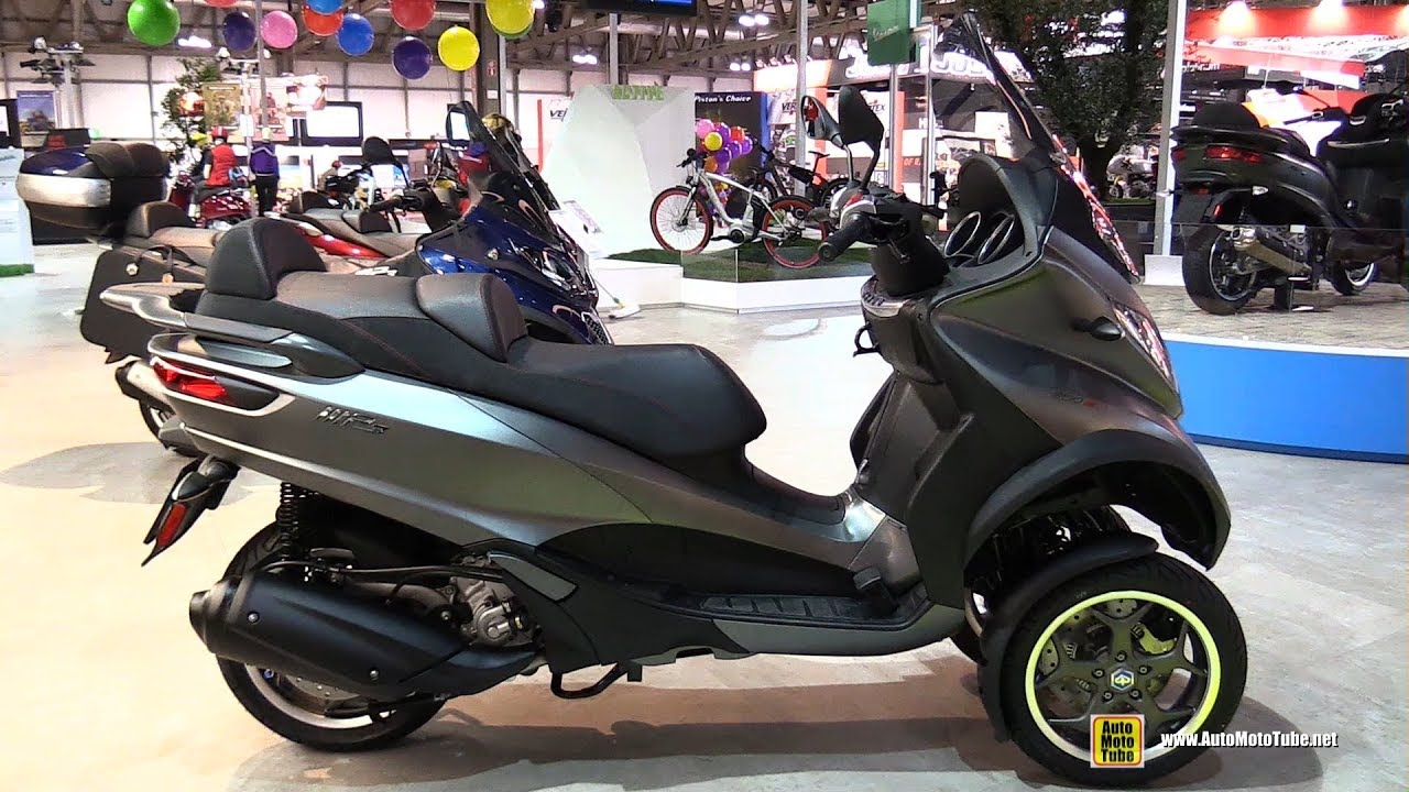 2017 piaggio mp3 sport 300 scooter walkaround 2016 eicma milan youtube. Black Bedroom Furniture Sets. Home Design Ideas