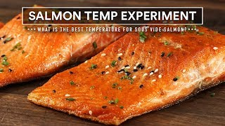 Sous Vide SALMON TEMPERATURE Experiment!