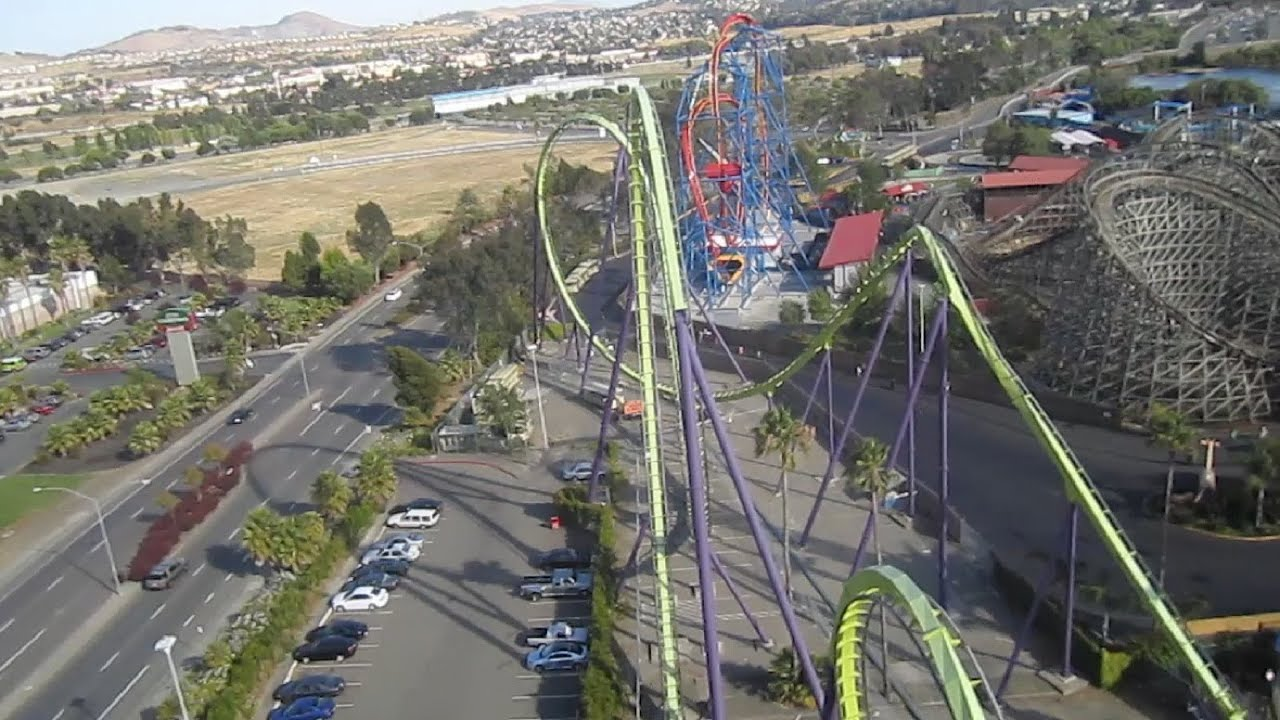 Medusa Front Seat On Ride Hd Pov Six Flags Discovery Kingdom