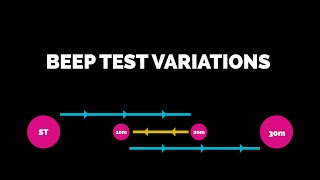 Beep test variations for rugby fitness