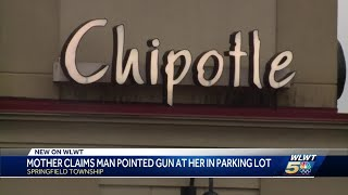 Mother reports man pulls gun on her outside restaurant in Springfield Township