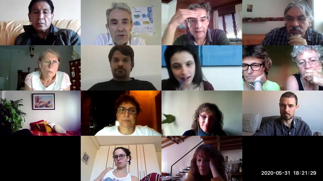 1º Encuentro Internacional (parte 2): psicodramatistas, experiencias con psicodrama online, duelos..