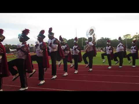 Anniston High School Marching Band Marching Off Field Performance To Mask Off (2017) Selma BOB