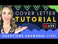 🔴How To Write A Cover Letter That Gets Noticed - Cover Letter Tutorial