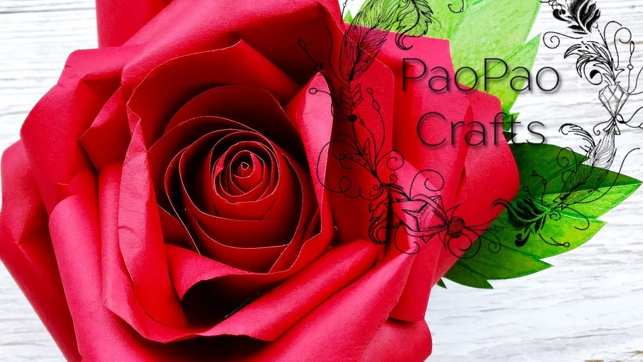 🌹ROSA DE PAPEL | FLORES EN PAPEL | MOLDES GRATIS | HOW TO MAKE ...