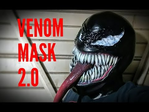 Venom Cosplay Mask 2.0 DIY build video