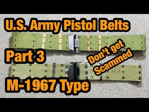 Vietnam Web-gear M1967 Pistol Belts, Web Belts Part 3