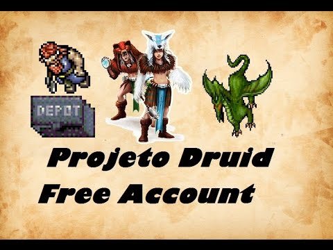 Projeto Druid Free Account #3 Hunt Dragon Solo Kazordoon Routes