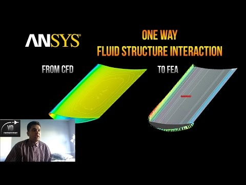 ANSYS Fluid Structure Interaction tutorial (One Way FSI)