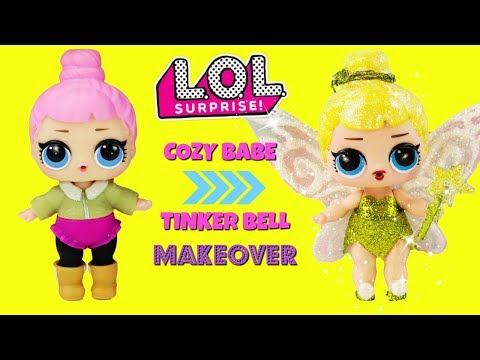 DIY Cozy Babe to TINKERBELL LOL Surprise Doll MAKEOVER Fan Request