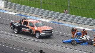 Indy 500 2017 Massive Huge Crash - Scott Dixon Horrific Crash  Alternate View from stands