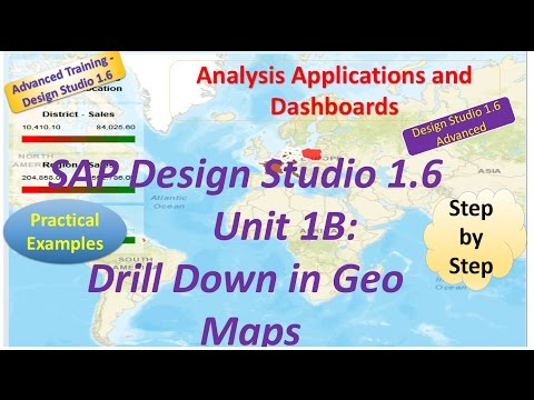 SAP Advanced Design Studio 1.6 : Unit1B: Drill Downs in Geo maps : Practical Examples