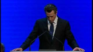 Lt. Governor Gavin Newsom Addresses the CA Dems!