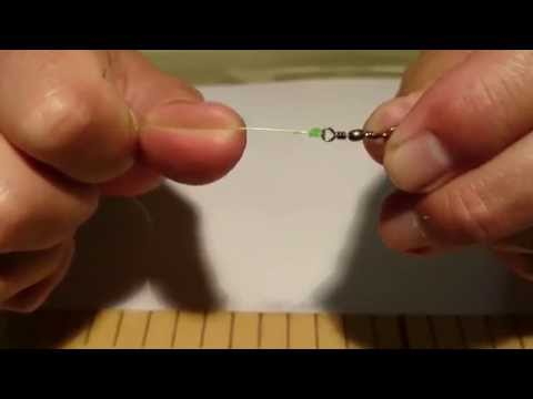 Leader line to clip swivel knot
