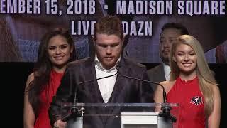 Canelo Alvarez on fighting Rocky Fielding in New York (Video: Golden Boy Promotions)