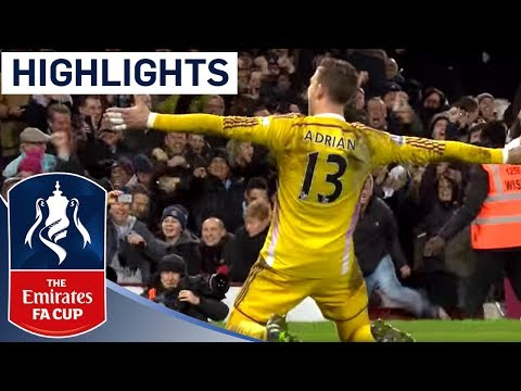 West Ham 2-2 (9-8 Pen) Everton (2014/15 FA Cup R3) | Goals & Highlights