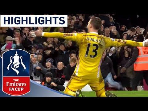 Full Shootout - West Ham 2-2 (9-8 Pen) Everton (2014/15 FA Cup R3) | Goals & Highlights