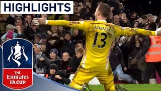 Full Shootout   West Ham 2 2 9 8 Pen Everton 201415 FA Cup R3  Goals And Highlights