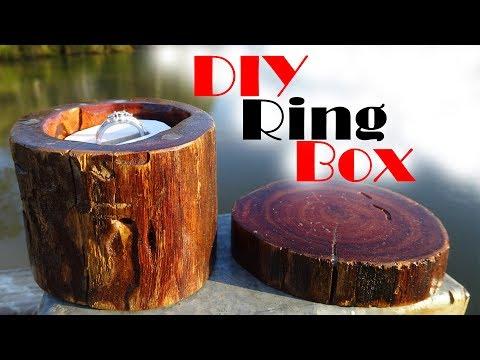 DIY Ring Box out of a log