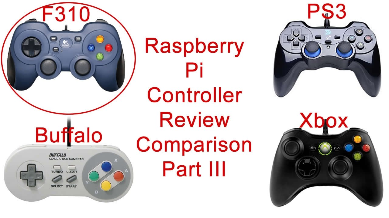 Raspberry Pi Controller Review - Logitech F310 - Part 3