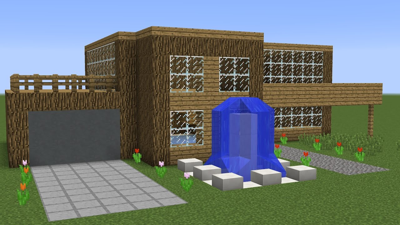 how to build a minecraft wooden house