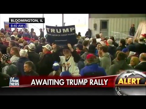 Breaking News March 2016 USA Liberal Socialism Voter intimidation  @ Donald trump rallies violence