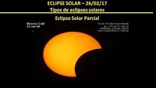 Como será o eclipse do Sol em 26/2/17?