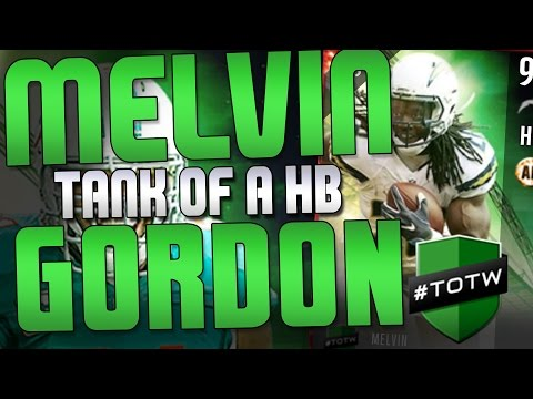 TOTW MELVIN GORDON SET HERO!! TOTW 92 OVERALL THOMAS DAVIS REVIEW! MADDEN TOTW 9 PLAYER LIST