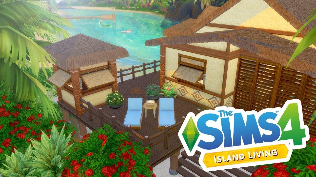 TROPICAL BEACH HOUSE // The Sims 4: Island Living Speed ...