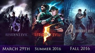 Resident Evil 4, 5, 6 - Announce Trailer (2016) | Capcom Games HD