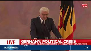 President Steinmeier's statement after coalition talks collapse in Germany