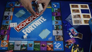UNBOXING Monopoly Fortnite Battle Royale Detail in Spanish Save the World Guide