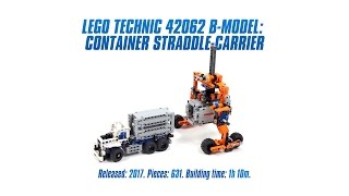 LEGO Technic 42062 B-model: Container Straddle-Carrier Speed Build & Review [4K]