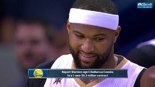 Reaction to the Warriors Signing DeMarcus Cousins | Happy Hour