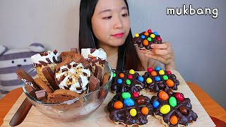 MUKBANG 킷캣 초코 파르페 엠엔엠 와플 디저트 먹방 KIT KAT PARFAIT M&M's WAFFLE Dessert asmr キットキャットパフェ