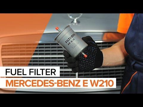 How to replacefuel filteronMERCEDES-BENZ E W210 TUTORIAL | AUTODOC