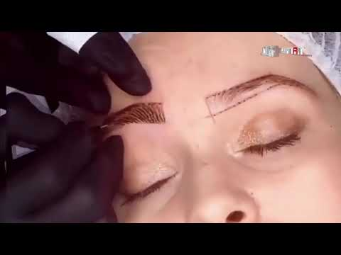 Semi Permanent Makeup for Eyebrows Tattooing | Full Tattoo