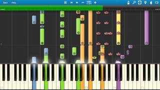 Neighbours - TV Theme Song - Piano Tutorial - Synthesia