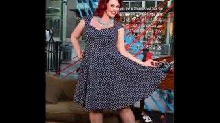 Красивые платья для полных в стиле Pin up