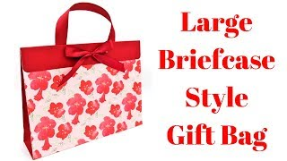 12 x 3 x 9 Large Briefcase Style Gift Bag | Original Design