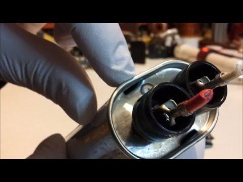 Teardown 5 2kv Microwave Oven Capacitors Youtube