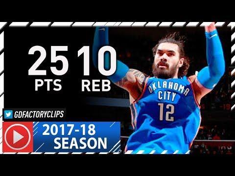 Steven Adams Full Highlights vs Cavaliers (2018.01.20) - 25 Pts, 10 Reb, SICK!