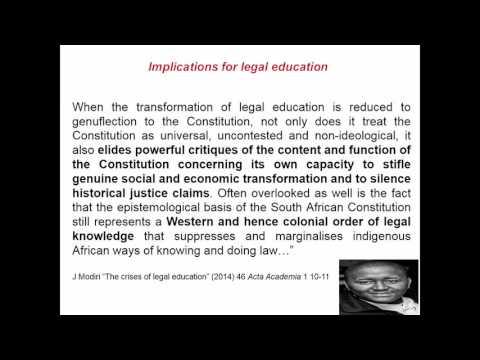 CRITICAL LEGAL EDUCATION UNDER A TRANSFORMATIVE CONSTITUTION