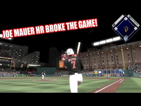 JOE MAUER HOMERUN BROKE THE GAME! - MLB The Show 17 Diamond Dynasty Gameplay