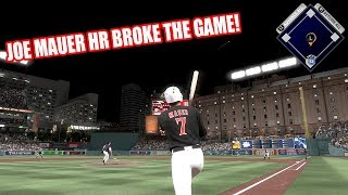 JOE MAUER HOMERUN BROKE THE GAME! - MLB The Show 17 Diamond Dynasty Gameplay